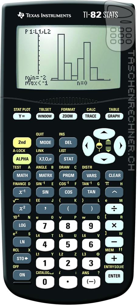 TI82 STATS Texas Instruments Grafikrechner Grafik-Taschenrechner